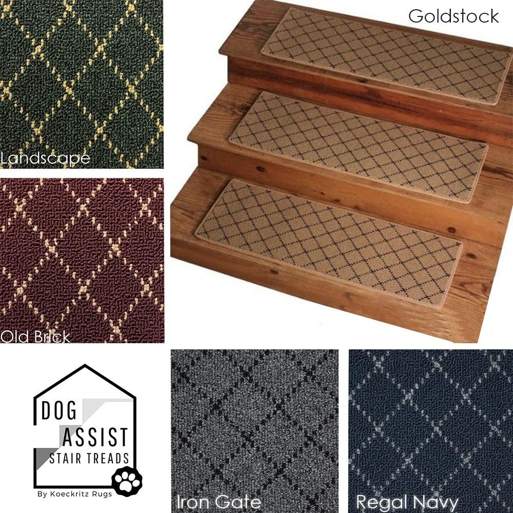 Ansley Park Omega Dog Assist Carpet Stair Treads | Padded Carpet Stair Treads | Stair Risers | Adhesive Padding | Bullnose Padded | Staircase Makeover | Flooring