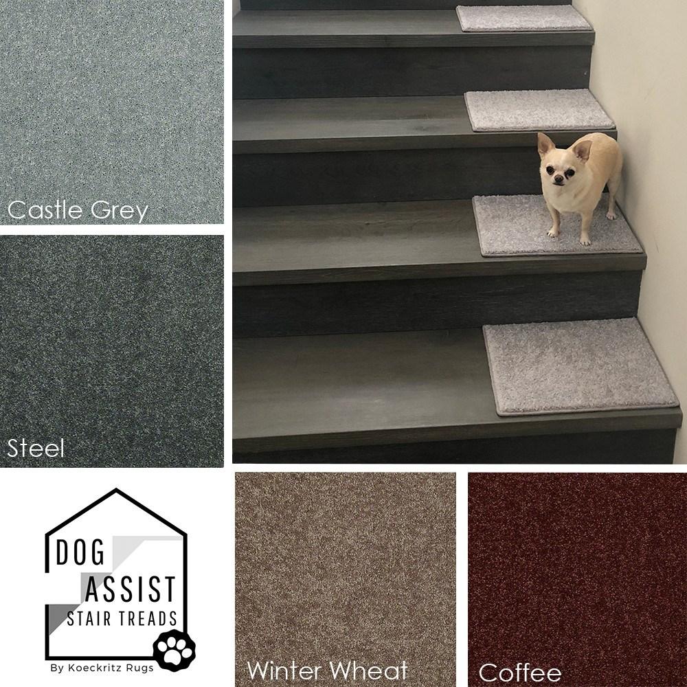 Carpet Stair Treads Custom Size Stair Tread Area Rugs | Individual Stair Carpet Treads | Non Slip Stair Runner | Flooring | Slip Resistant | Anti Slip | Beige