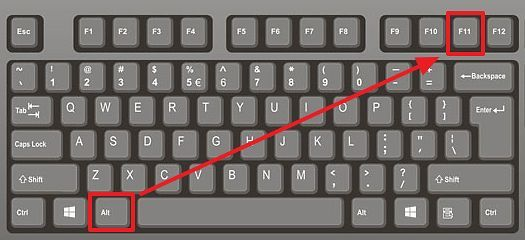 Key Combination Alt-F11