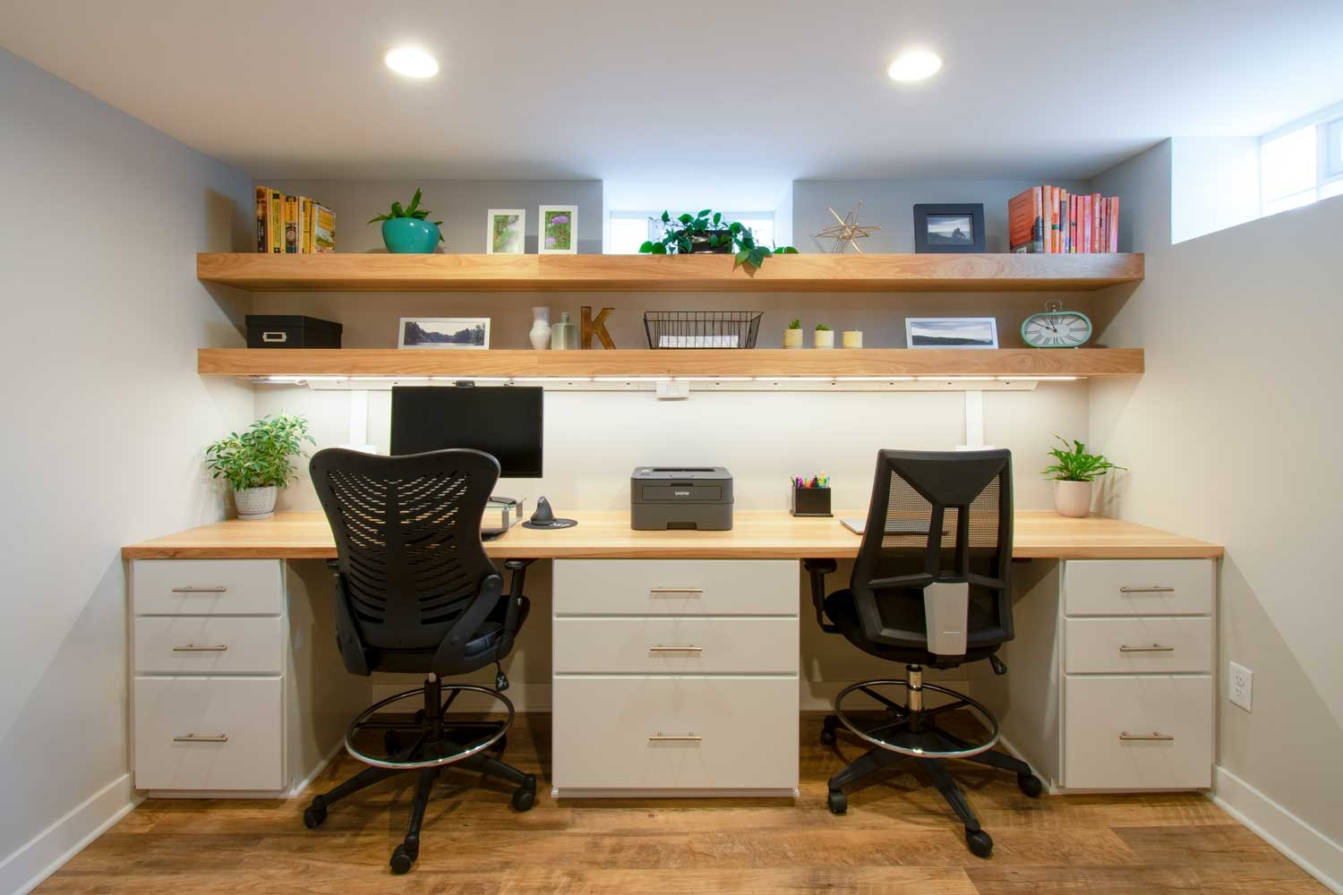 Wauwatosa Basement Remodel Office Laundry Bath Living Room | Kitchen With Stairs To Basement | Next | Mid Century | Living Room | Narrow | Ranch