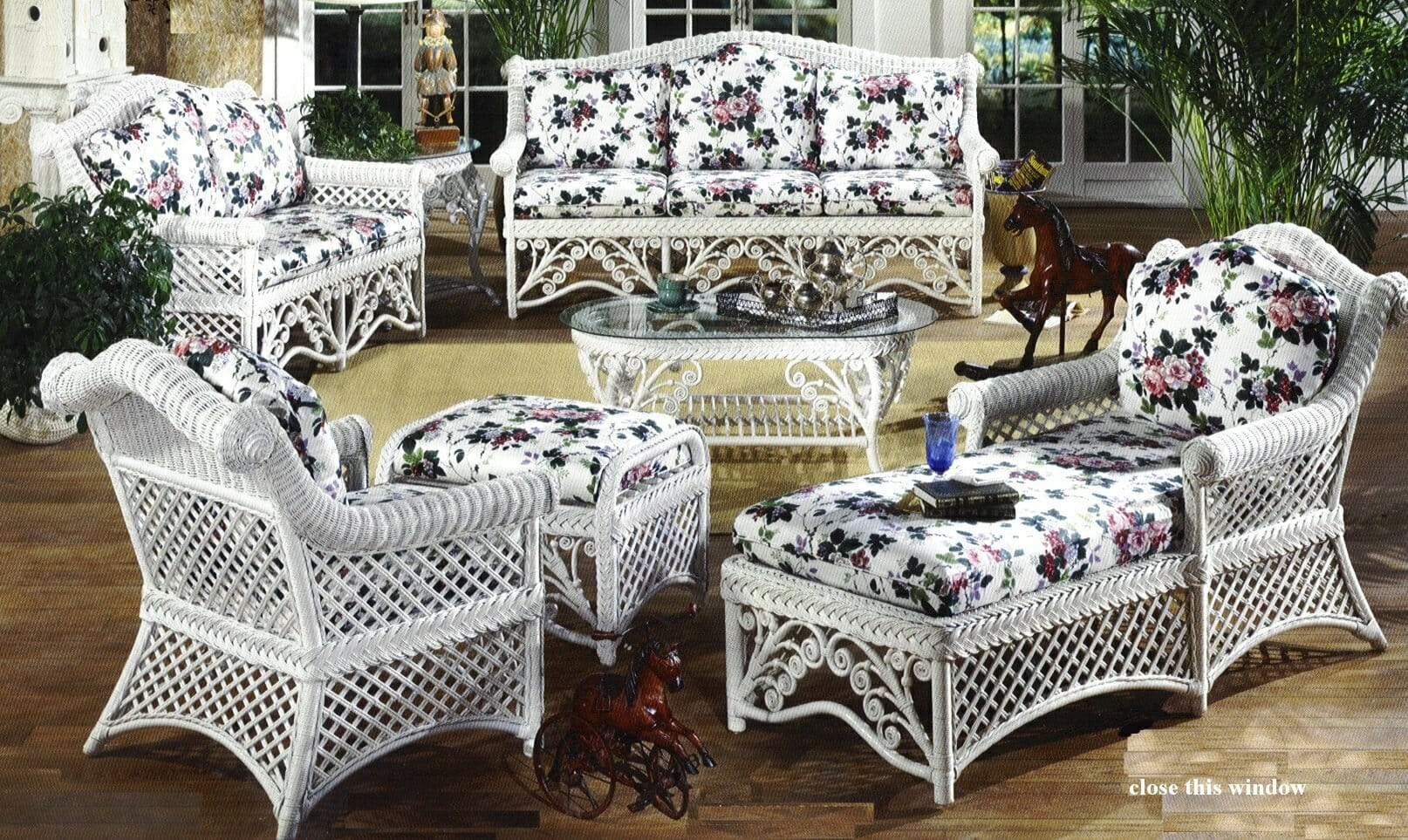 Gazebo Victorian Wicker Furniture   Kozy Kingdom