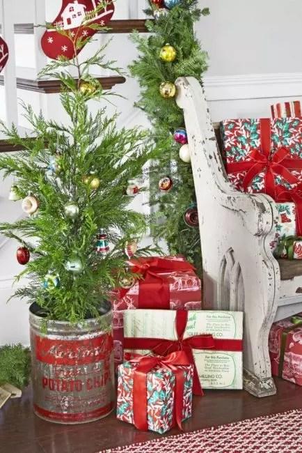 Fartøy fra under potet chips perfekt egnet for julen mini-treet