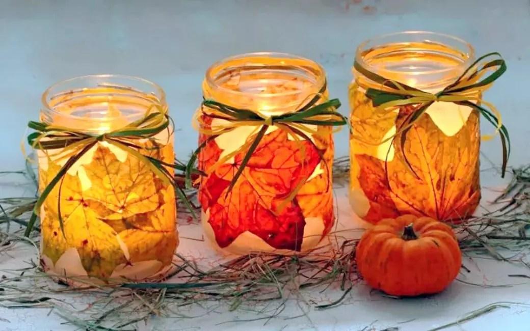Çarpıcı parlayan kavanozlar sizi sonbahar chanders'dan kurtaracak