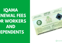 Iqama Renewal Fees for Workers and Dependents