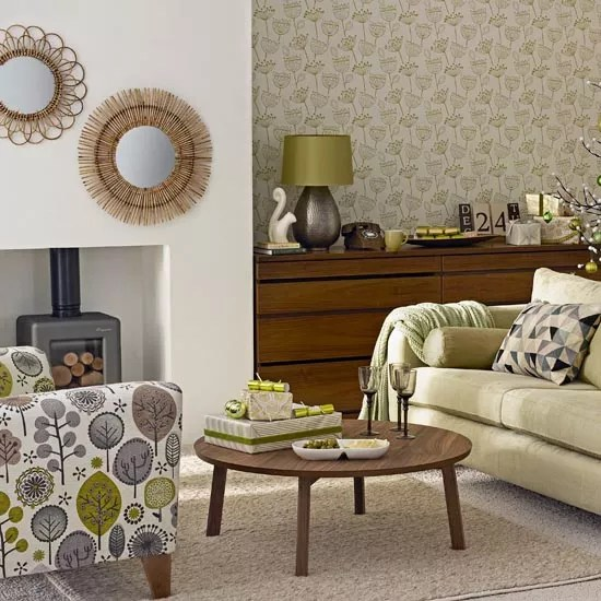 Brown And Cream Accent Chair