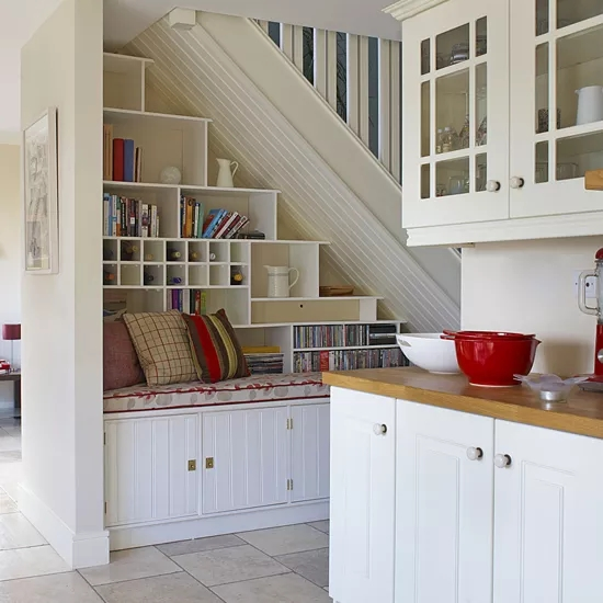 Creative Ways To Use The Space Under The Stairs Ideal Home | Space Under Staircase Design | Indoor | Clever | Innovative | Wooden | Understairs