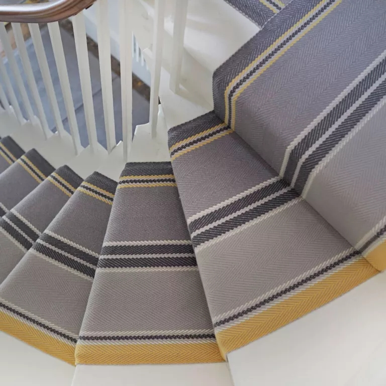 Best Stair Carpets – Our Pick Of The Most Fabulous Flooring For   Grey Herringbone Carpet Stairs   Living Room   Flat Weave   Hartley   Patterned   Modern