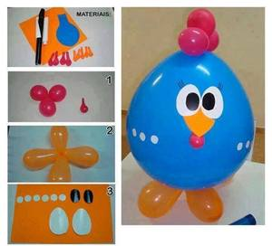 Petushok från ballonger