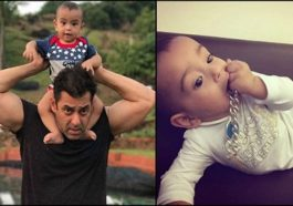 Ahil Sharma first birthday with Salman Khan