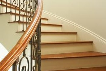 How To Fix Dents In A Stair Riser Home Guides Sf Gate | Hardwood Steps And Risers | Gray Painted | Cherry Wood | Hardwood Floor | Timber | White