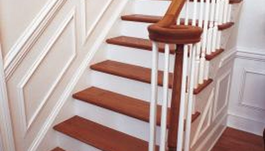 How To Reduce Swirl Marks When Refinishing Hardwood Stairs Home   Staircase Refinishing Near Me   Basement   Restaining   Brown Stained   White Riser   Grey Flooring