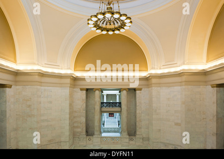 Interior view of the Arkansas State Capitol Dome Stock Photo         USA  Arkansas  Little Rock  Arkansas State Capitol interior   Stock  Photo