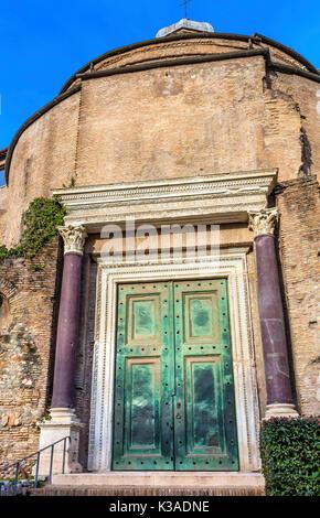 bronze door of temple Temple of Romulus Forum romanum ...