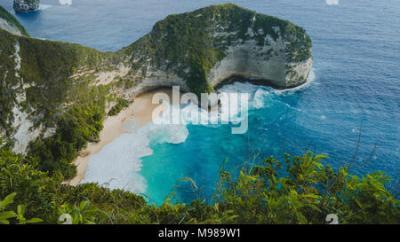 Manta Bay or Kelingking Beach on Nusa Penida Island, Bali ...