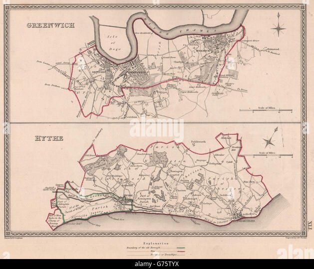Map County Maidstone Kent England