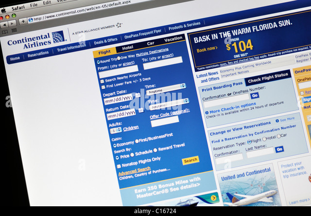 United Airlines Website Stock Photos & United Airlines ...