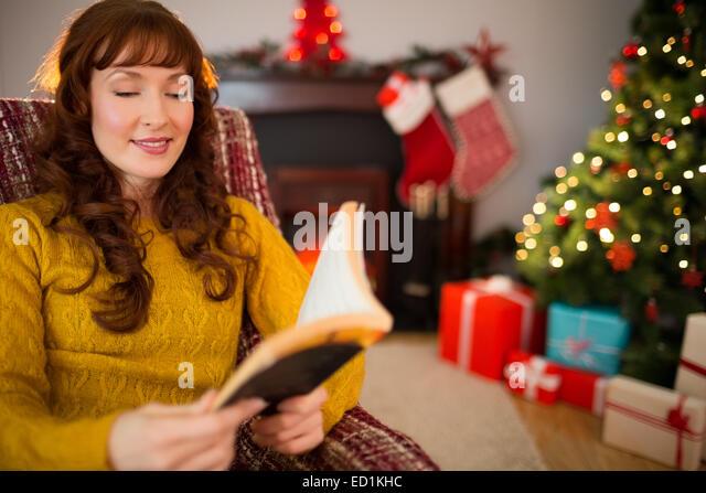 Families Around Christmas Tree Retro