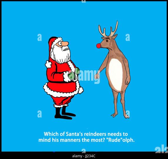 Black And White Reindeer Pun
