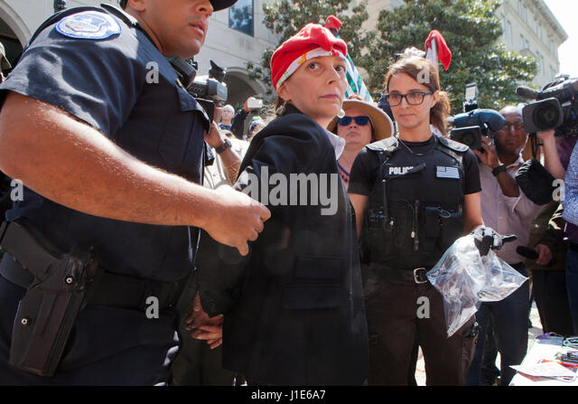 Federal Police Handcuffing