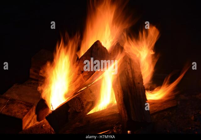 Castle Fire Burning Fireplace