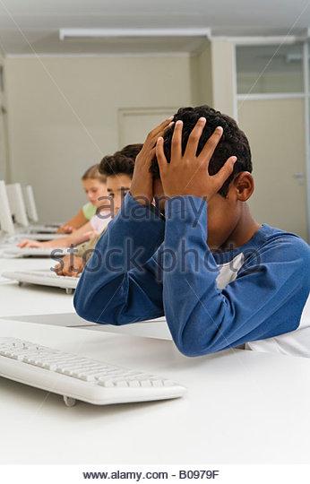 Computer Desk Girl Sleeping