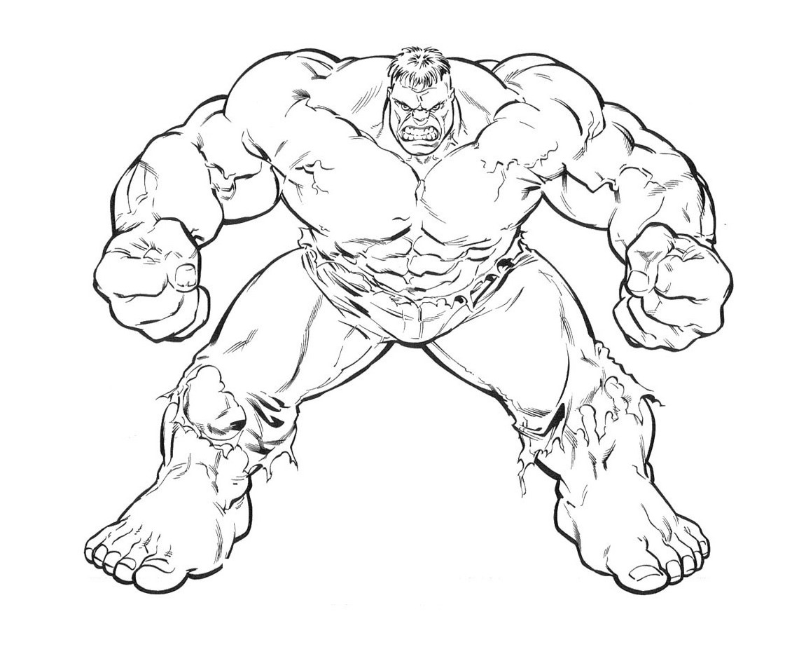 Free Coloring Pages Of Avengers Incredible Hulk