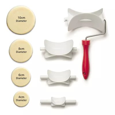 Round Rolling Pastry Cutter Set x4 | Lakeland