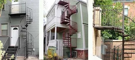 Lamonaca Iron Works Spiral Staircases In Chicago Il   Spiral Stairs Off Deck   Railing   Wood Deck   Metal   Stair Case   Stairway