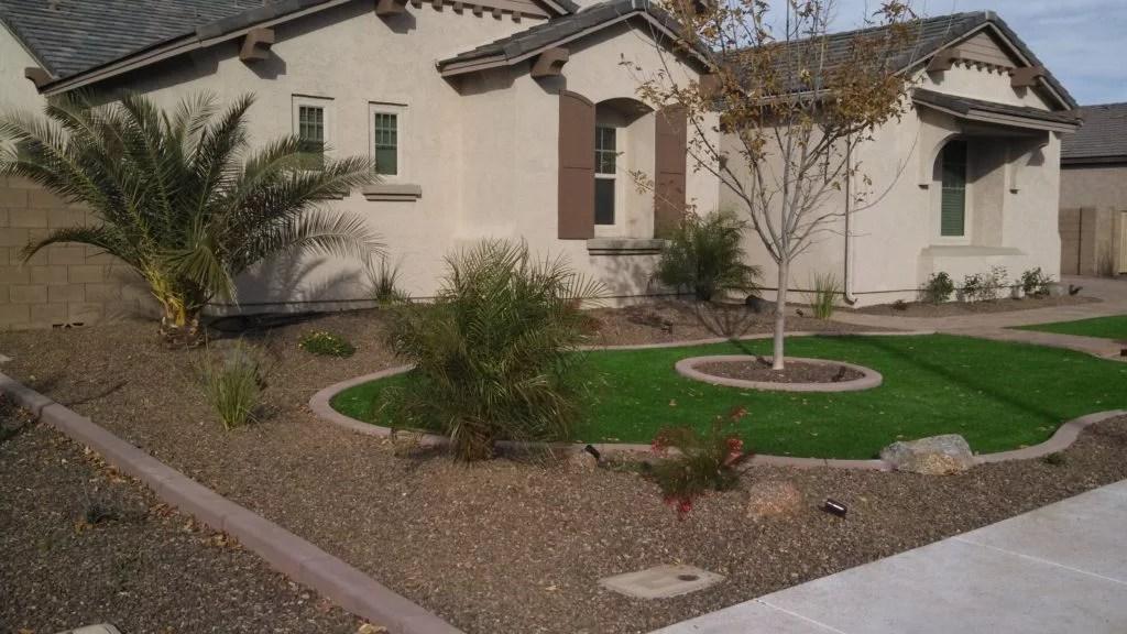 Front Yard Landscape Design Az Living Landscape Design 480