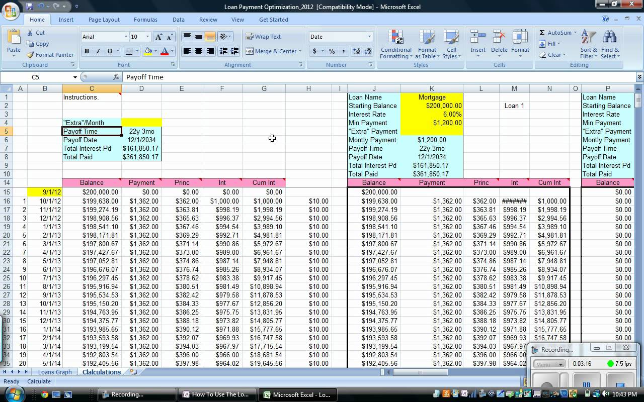 mortgage calculator with extra payment