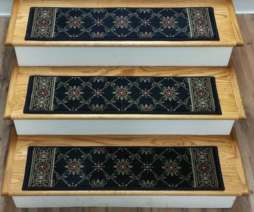 Ethnic Braided Stair Treads Royals Courage The Braided Stair | Braided Stair Treads With Rubber Backing | Non Slip | Skid Resistant | Anti Slip | Heritage Farms | Slip Resistant