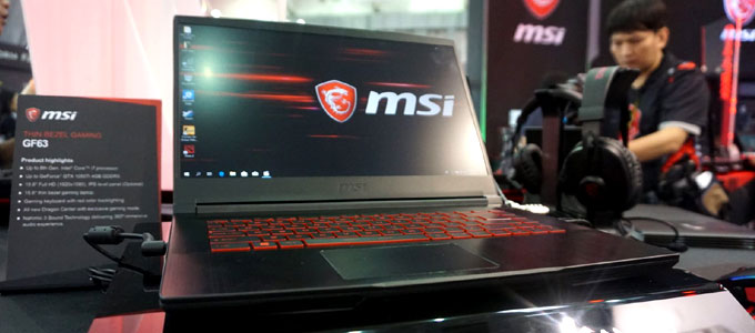 Penampakan interface MSI GF63 (sumber: trustedreviews.com)