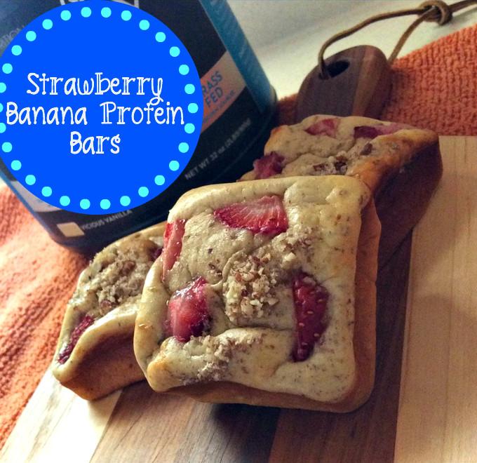 Strawberry Banana Protein Bars