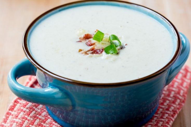 Keto Bacon Cheddar Cauliflower Soup