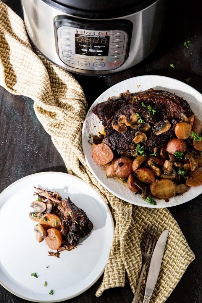 Low Carb Instant Pot Pot Roast - Pressure Cooker Pot Roast Recipe