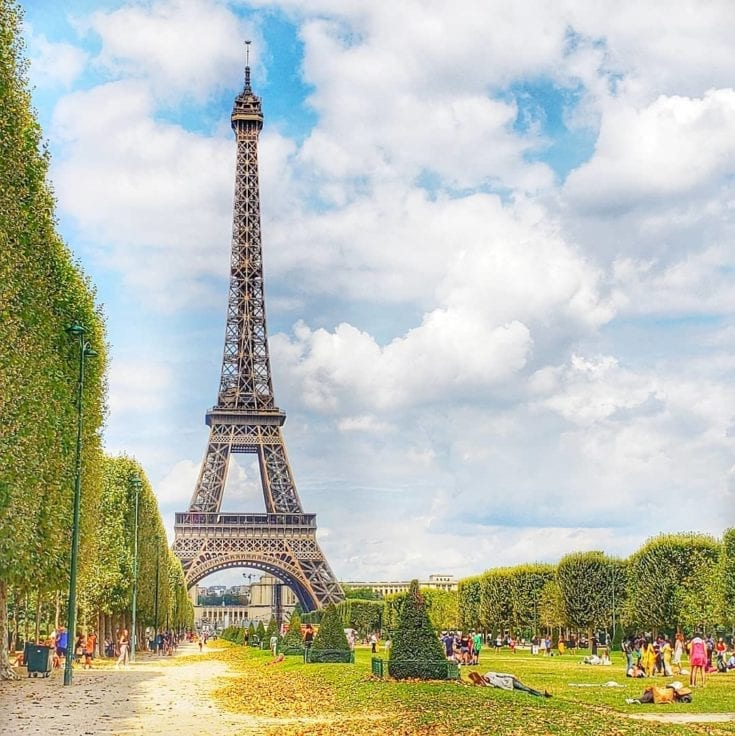 Eiffel Tour Paris in July