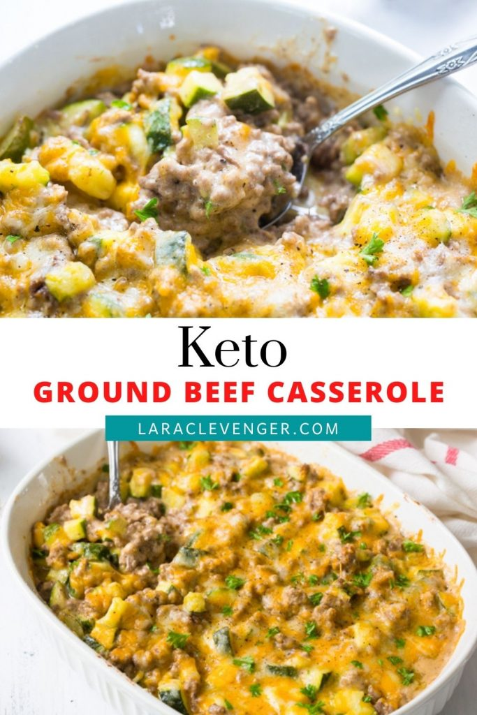 PINABLE IMAGE FOR KETO GROUND BEEF CASSEROLE