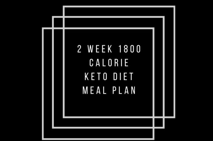 1800 kcal keto diet