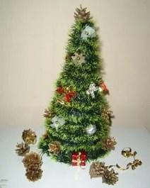 Мишурадан Жаңа жыл үшін Рождество шыршасы: EZ IZ Mishury 2 құрудың түрлі тәсілдері