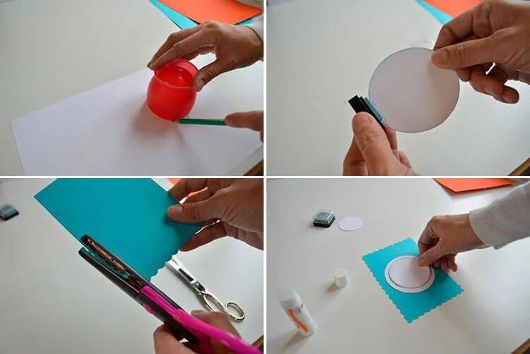 کارت پستال برای سال جدید با دستان خود: صنایع دستی ساده و اصلی در مهد کودک و مدرسه 9 12 1