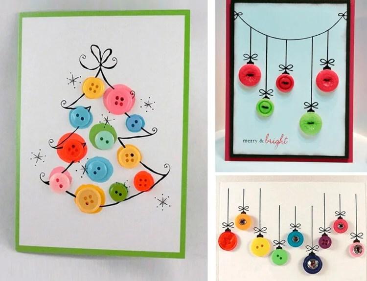 کارت پستال برای سال نو با دستان خود: صنایع دستی ساده و اصلی در مهد کودک و مدرسه Novogodnyaya otkrytka Svoimi Rukami 55