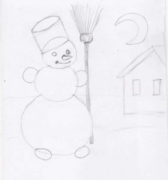 크리스마스 주제용 도면 : 새해에 무엇을 그릴 수 있는지 Risunki Novodnyuyu Temu 116