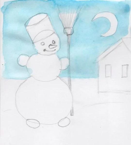 크리스마스 주제용 도면 : 새해를 위해 무엇을 그릴 수 있습니까? Risunki Novodnyuyu Temu 117