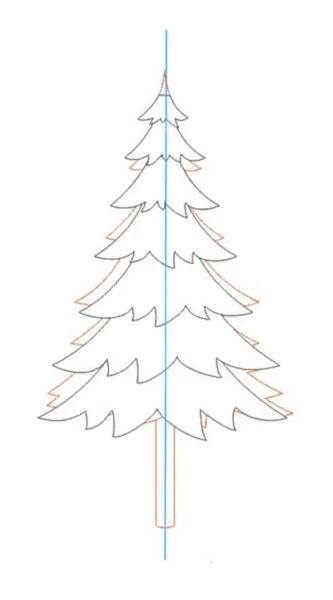 Dessins pour sujets de Noël: Que puis-je dessiner pour la nouvelle année Risunki Na Novogodnyuyu Temu 20