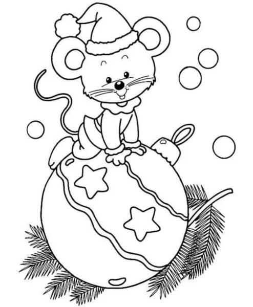 크리스마스 주제용 도면 : 새해에 그려지는 것은 risunki novodnodnyuyu temu 33