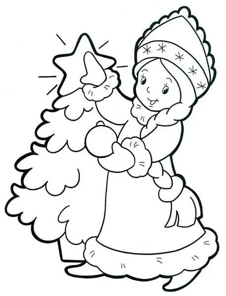 크리스마스 주제용 도면 : 새해에 그려지는 것은 risunki novodnodnyuyu temu 47