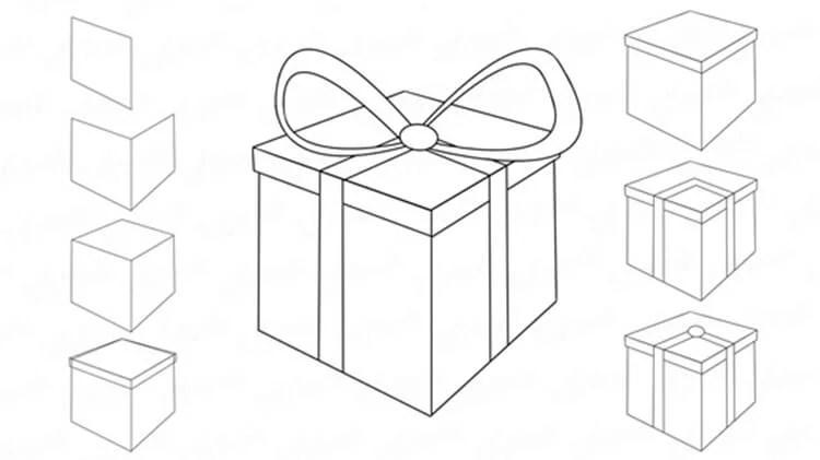 Dessins pour sujets de Noël: Que peut-on tirer sur la nouvelle année Risunki Na Novogodnyuyu Temu 5