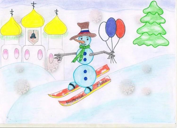 Рисунки на новогоднюю тематику: что можно нарисовать на Новый год risunki na novogodnyuyu temu 59