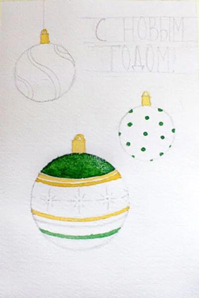 크리스마스 주제를위한 도면 : 새해에 그려 질 수있는 일은 risunki novodnodnyuyu temu 97
