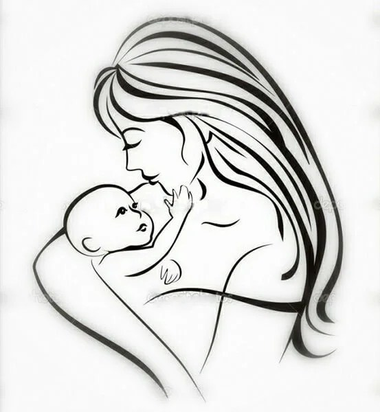 Çocukların Çizimleri Anneler Günü: Paper'da Anne İçin Sevginizi Ekspres Risunok Na Den Materi 17
